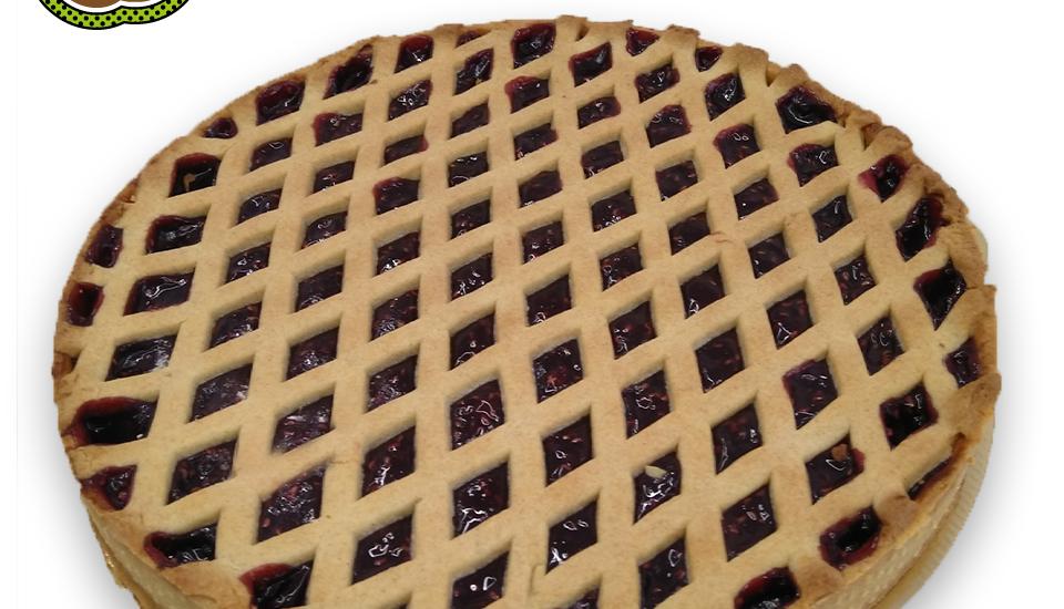 crostata con marmellata di lamponi